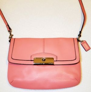 Coach Kristen Leather Flat Top Crossbody